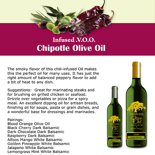 Infused Chipotle Extra Virgin Olive Oil
