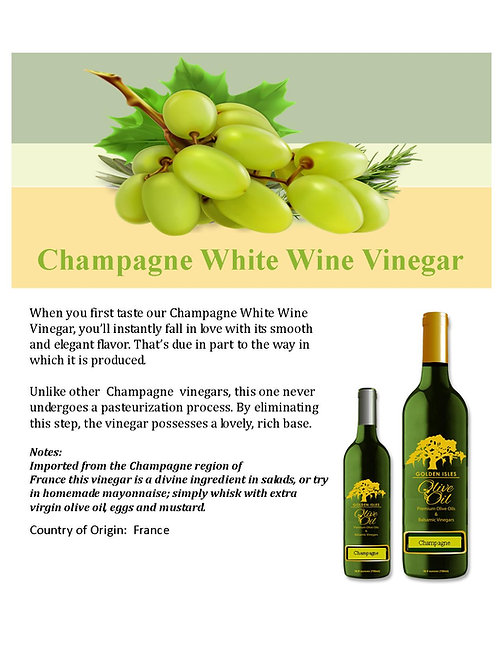 Champagne White Wine Vinegar