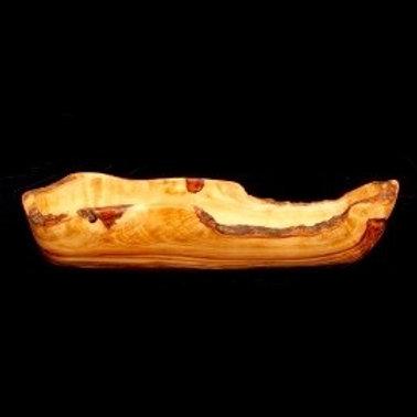 Olive Wood Bread Dish 14''