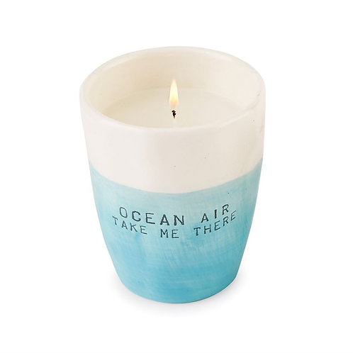 French Ivory Ocean Air Ombre Candle