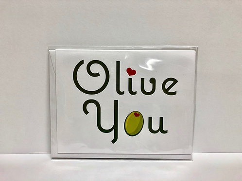 Olive You Note Cards