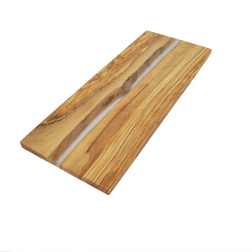 Olive Wood Cutting Board with Clear Resin