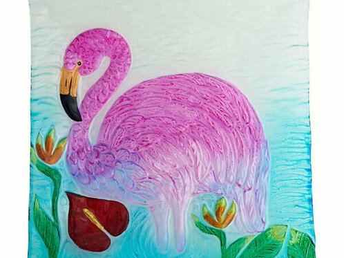 Pretty in Pink Flamingo Platter 12 inches