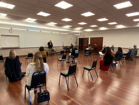 First in-person meeting featured board range of issues