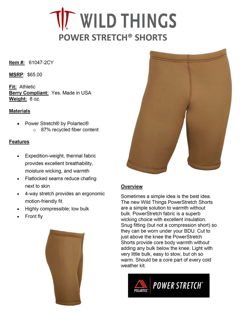 WT POWER STRETCH SHORTS