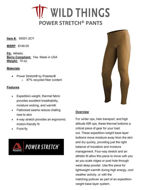 WT POWER STRETCH  PANTS