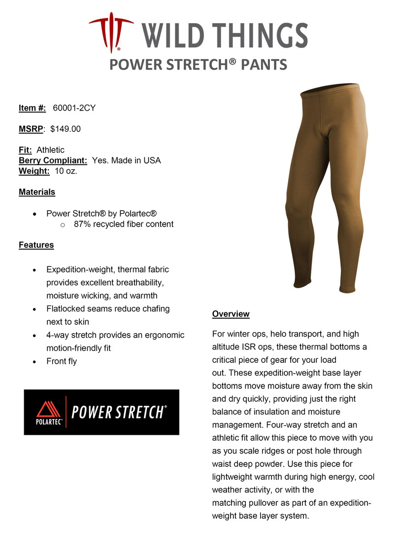WT POWER STRETCH  PANTS