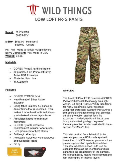 WT Low Loft FR-G Pants