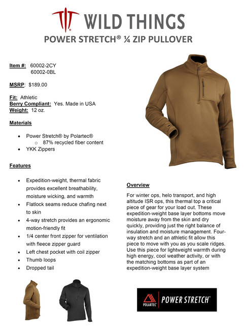 WT POWER STRETCH  PULLOVER