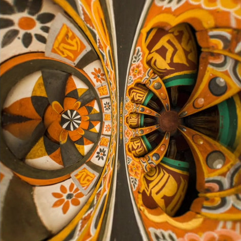 Video showing the art of circular abstract art photographs.