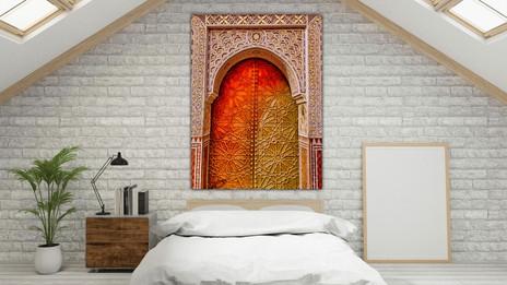 Colorful Brass Door in Marrakech