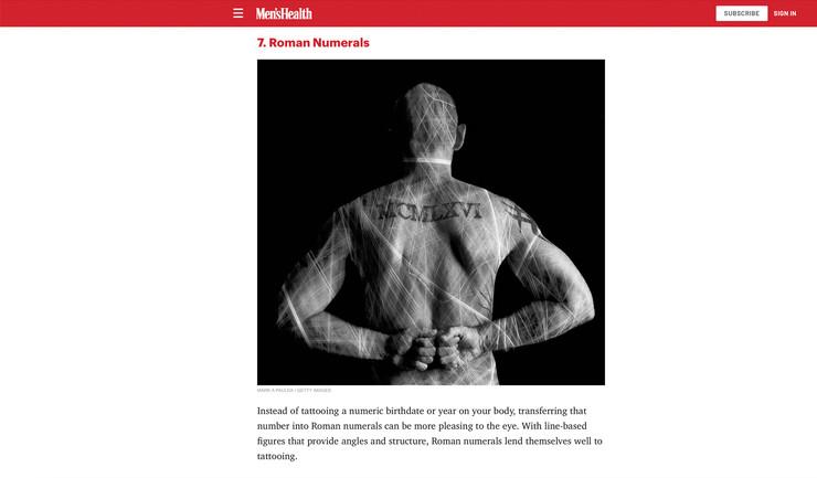 MEN'S HEALTH MAGAZINE - MARK PAULDA
