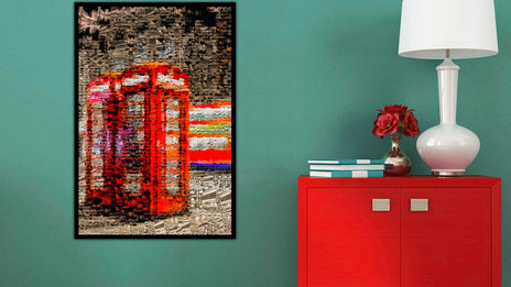 Red Phone Box Mosaic