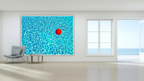 Red Ball in Pool