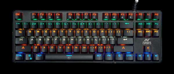 Ant Esports MK1000 Multicolour LED Backlit Wired TKL Mechanical Gaming Keyboard