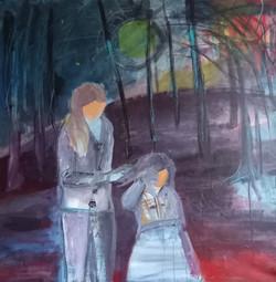 Sestra, akryl na plátně, 120 x 120