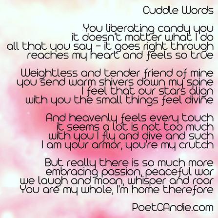 CUDDLE   WORDS