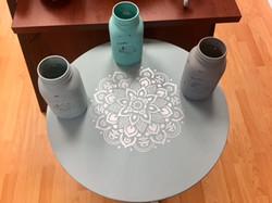Side Table & Mason Jar Votive