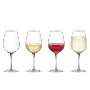 —Pngtree—set transparent vector wine gla