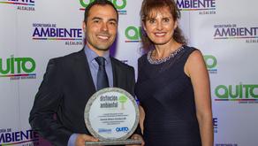 GM OBB DEL ECUADOR recibió distinción Quito Sostenible 2015