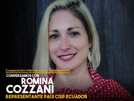Conversamos con Romina Cozzani, Representante País CISP Ecuador