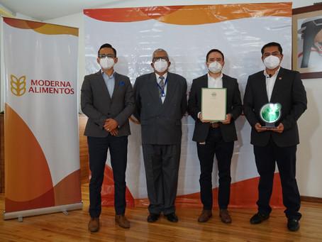 """MODERNA ALIMENTOS obtiene certificación """"Empresa Eco-eficiente"""" para su planta Cajabamba"""