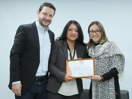 Ministerio de Salud Pública certifica sala de lactancia de GM OBB del Ecuador