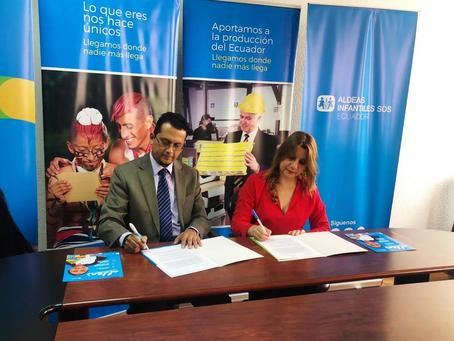 CNT renueva su convenio con Aldeas Infantiles SOS Ecuador
