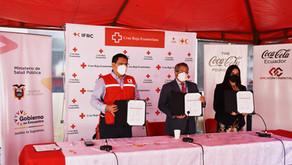 Cruz Roja Ecuatoriana, con el apoyo de Coca-Cola, realizó la entrega de 607.000 insumos