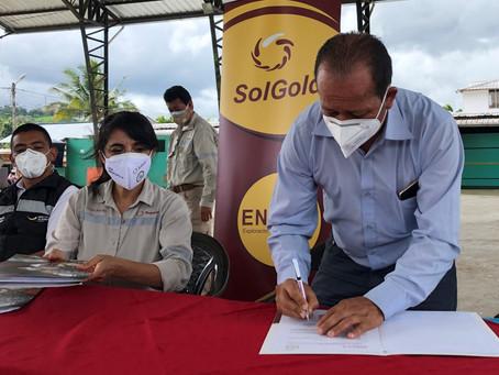 SolGold firma dos convenios de cooperación para favorecer el desarrollo local en comunidades