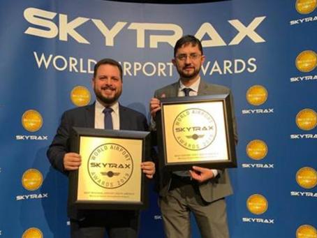 QUIPORT: Aeropuerto de Quito recibe premios Skytrax a la calidad de servicio, eficiencia, seguridad