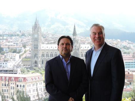 El Ministro de Turismo se reunió con Tim Sheldon, Presidente de Marriott International / Región del