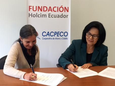 HOLCIM ECUADOR Y CACPECO se unen para apoyar emprendimientos en Latacunga