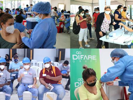 GRUPO DIFARE contribuye con plan de vacunación 9/100