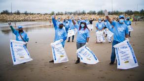 """NIRSA realizó """"Minga Canilla"""" por el Día Mundial de la limpieza de playas."""