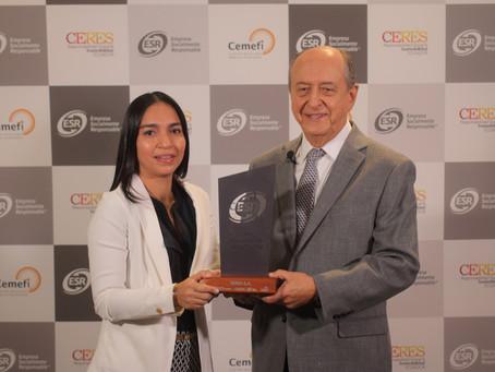 NIRSA recibió Distintivo ESR® Empresa Socialmente Responsable por parte de CERES