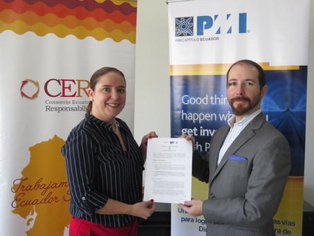 CERES firma convenio de cooperación con  PMI Ecuador
