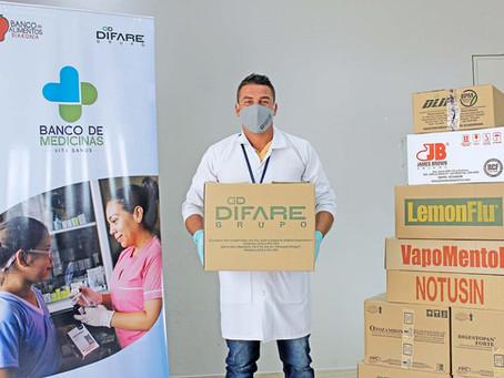 GRUPO DIFARE: VITA SANUS, Banco de Medicinas ofrece aporte a personas vulnerables en pandemia
