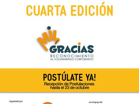 Abiertas las postulaciones al Reconocimiento MIL GRACIAS al Voluntariado Corporativo en Ecuador