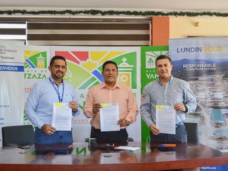 LUNDIN GOLD aportó para la compra de una ambulancia para el hospital básico de Yantzaza