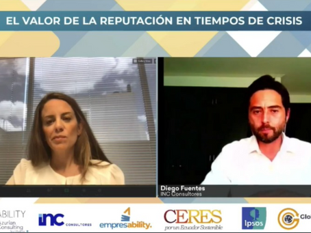 Se presentó Estudio de Reputación Corporativa Ecuador 2020