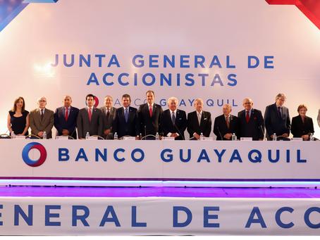 Juntade Accionistas de Banco Guayaquil aprueba pago de dividendos a sus Accionistas