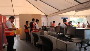 Terminal de emergencia instalada por Quiport permitió recuperar la conectividad aérea de Manta
