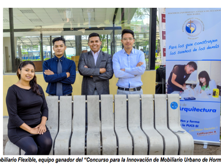 UNACEM premió la Innovación de Mobiliario Urbano de Hormigón