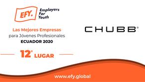 CHUBB logra el 12° como Mejor Empresa para Jóvenes Profesionales