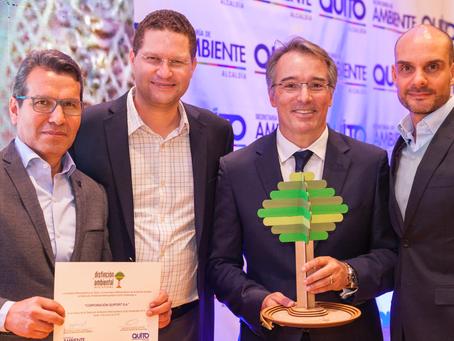 Corporación Quiport recibió la Distinción Ambiental Metropolitana Quito Sostenible 2018