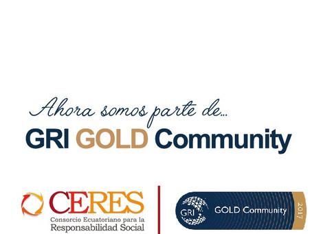 CERES es parte del GRI GOLD COMMUNITY