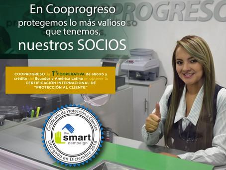 COOPROGRESO la primera cooperativa de ahorro y crédito certificada en protección al cliente