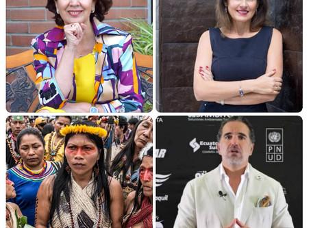 Cuatro ecuatorianos elegidos entre latinos más influyentes comprometidos con la acción climática