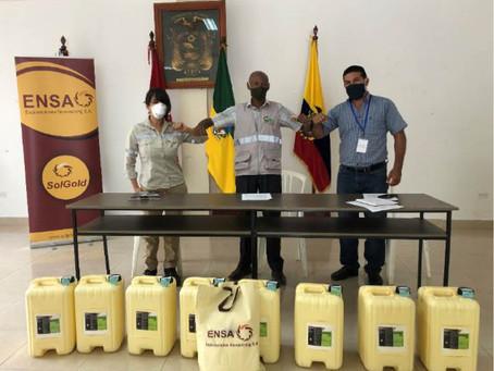 SOLGOLD y las Juntas Parroquiales de Lita y La Carolina celebran convenios de cooperación frente al